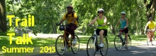 Cyclists enjoy the opening of the Mad River Trail Extension - July 2013